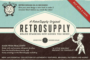 Retro Effects | Classic Collection Bundle for Affinity Affinity Designer Brushes RetroSupply Co.
