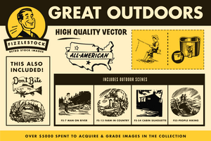 Great Outdoors | Retro Clip Art