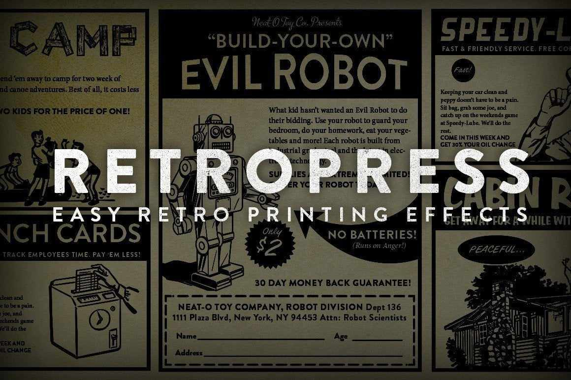 RetroPress Adobe Photoshop RetroSupply Co