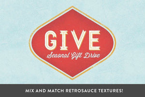 RetroSauce | LetterPress Action Adobe Photoshop RetroSupply Co