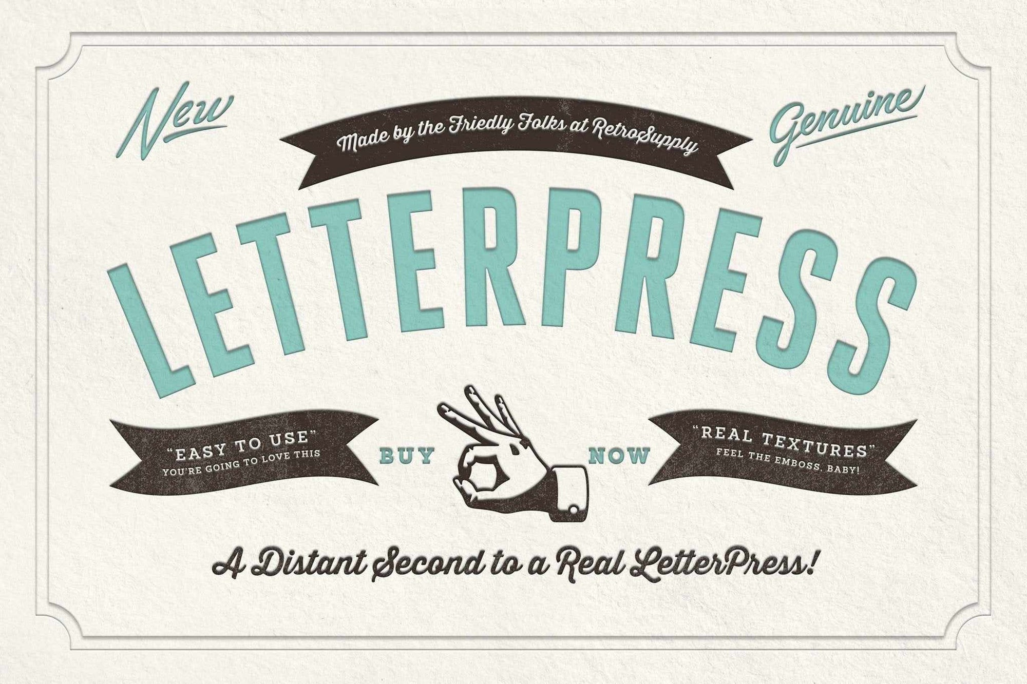 RetroSupply LetterPress Adobe Photoshop RetroSupply Co