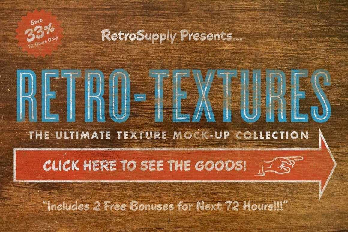 RetroTexture MegaBundle Adobe Photoshop RetroSupply Co