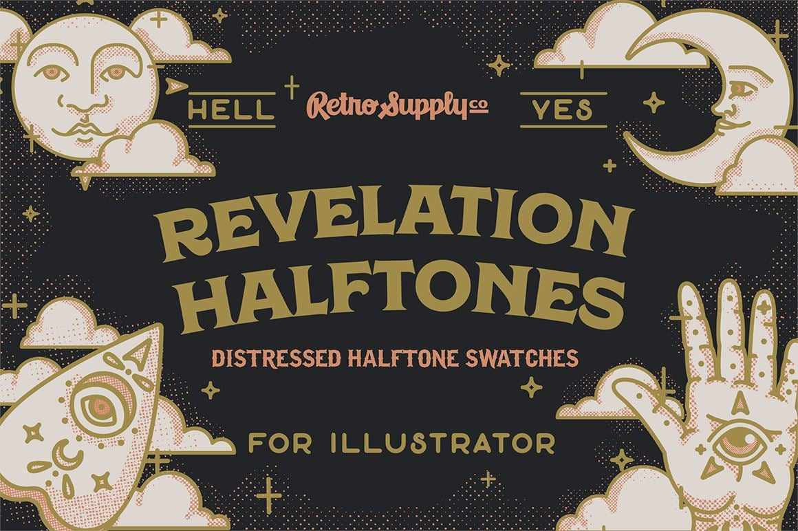 Revelation Halftone Swatches for Adobe Illustrator Adobe Illustrator RetroSupply Co.