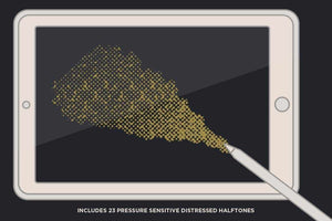 Revelation Halftones | Distressed Halftone Brushes for Procreate Brushes RetroSupply Co.