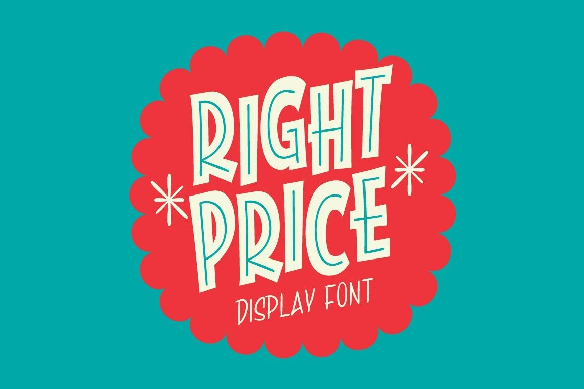 Right Price Font Fonts RetroSupply Co.