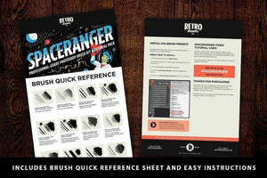 SpaceRanger Brush Kit and Tutorial Pack Adobe Photoshop RetroSupply Co