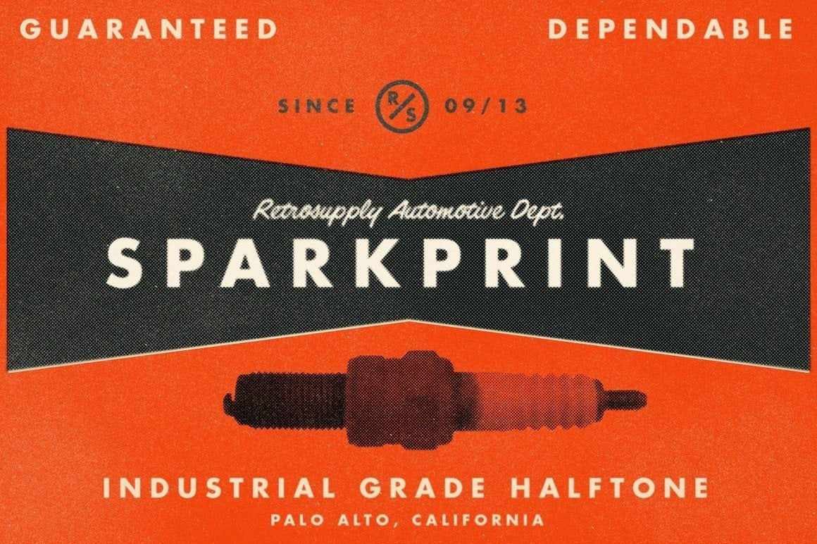 SparkPrint | Your Personal Halftone Factory Adobe Photoshop RetroSupply Co