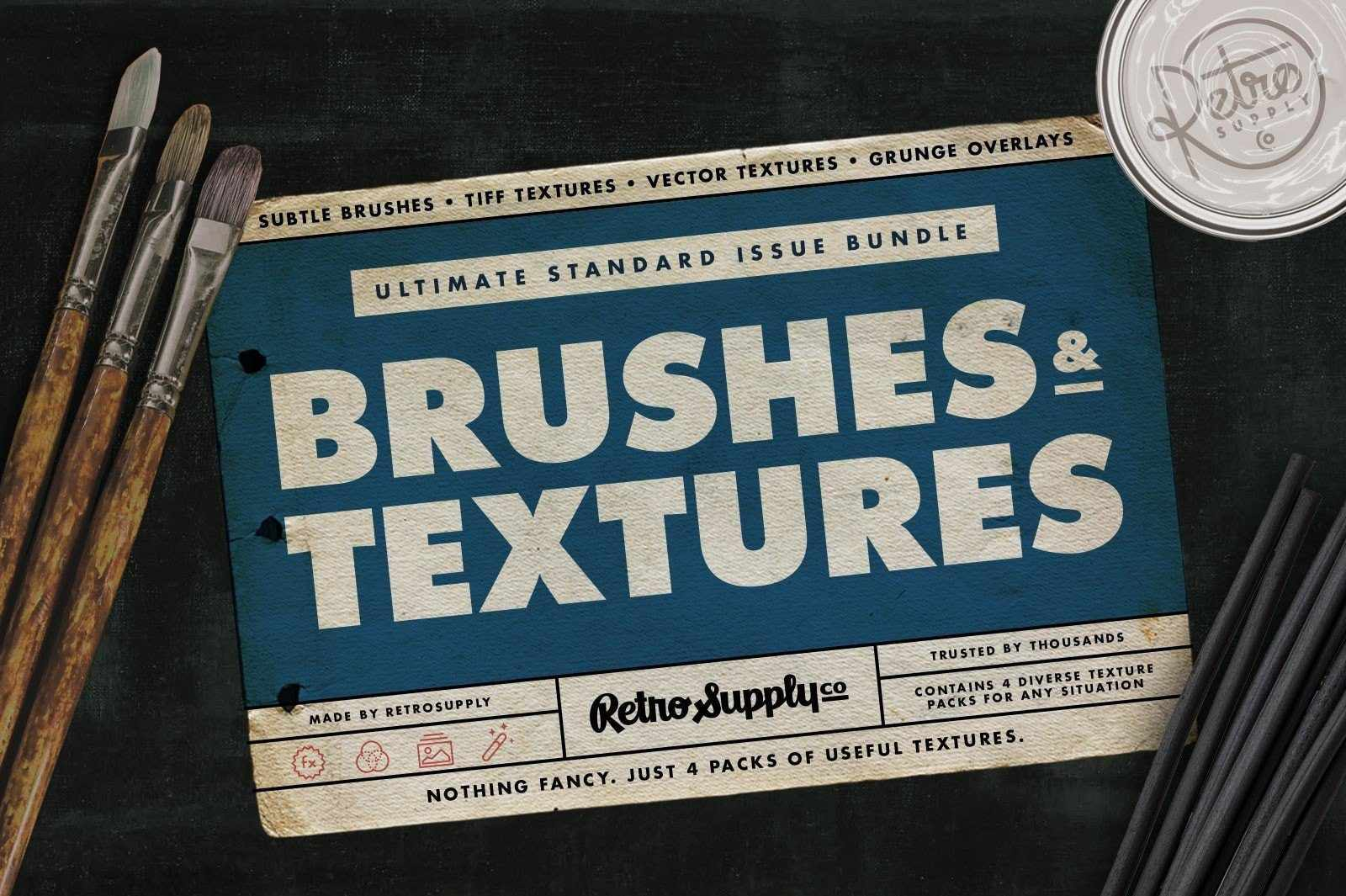 Standard Issue Brush & Texture Bundle Adobe Photoshop RetroSupply Co