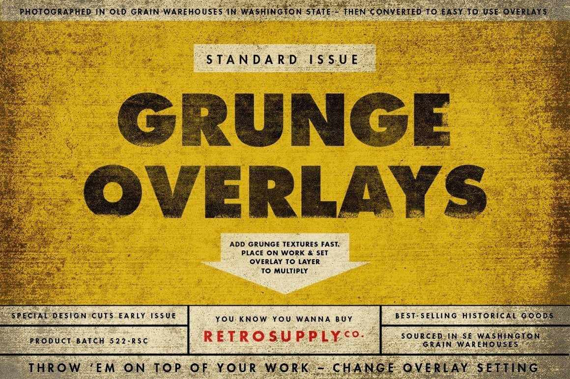 Standard Issue Grunge Textures for Photoshop Textures RetroSupply Co