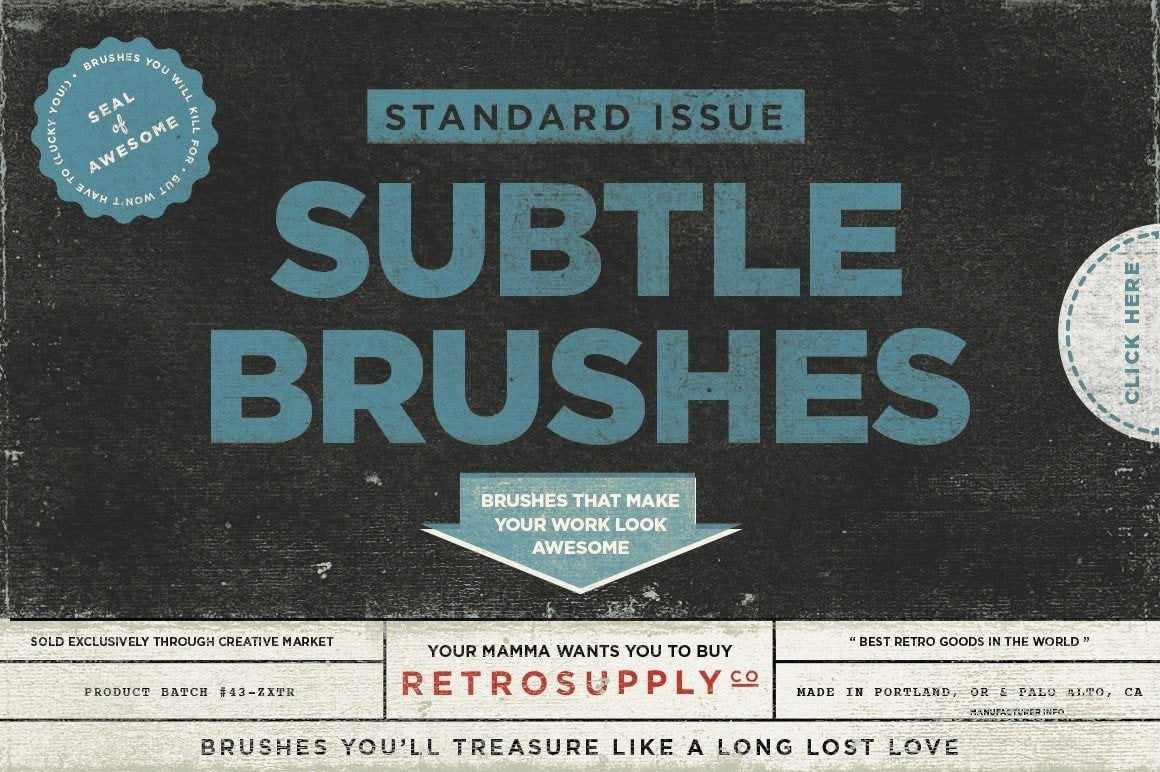Standard Issue Subtle Brush Kit Adobe Photoshop RetroSupply Co