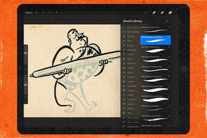 Standard Procreate Inking Brushes | RetroSupply Co.