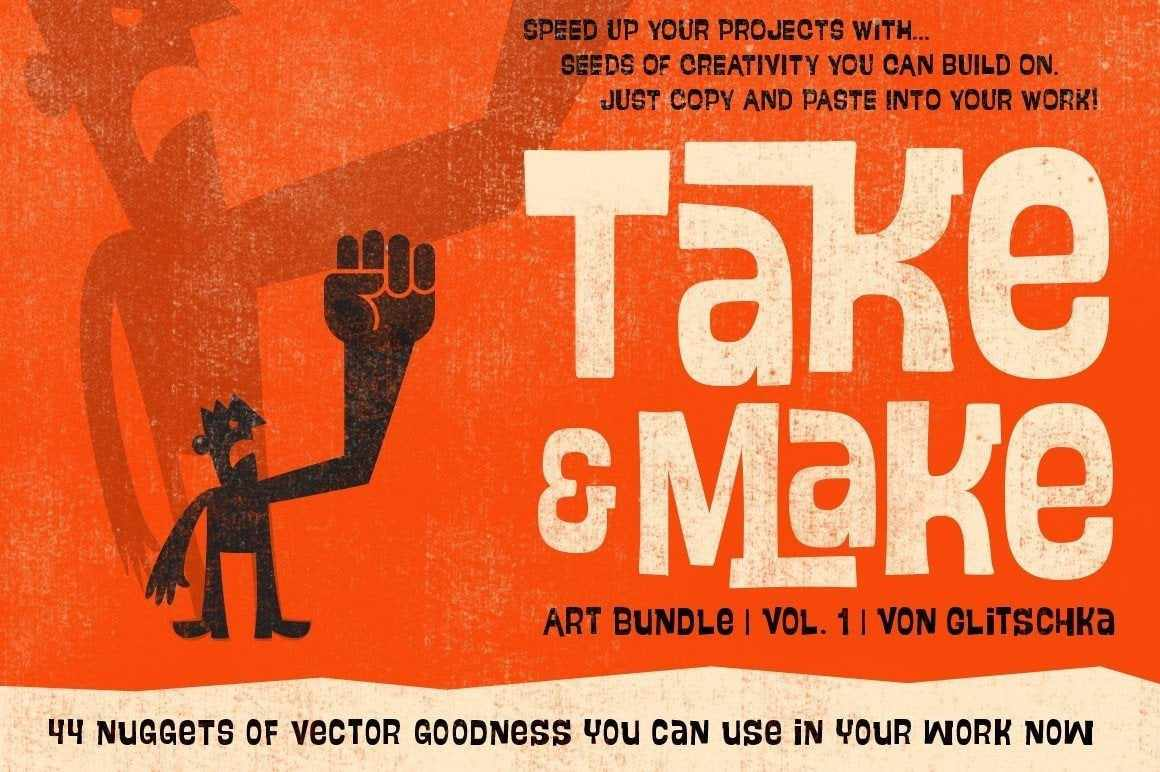 Take and Make Art Bundle (Vol.1 ) by Von Glitschka Clip Art RetroSupply Co