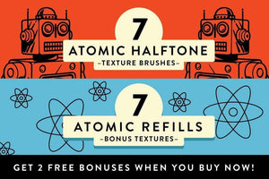 The Atomic Age Print Kit Adobe Photoshop RetroSupply Co