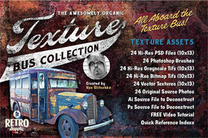 The Awesomely Organic Texture Bus Collection Adobe Illustrator Glitschka Studios
