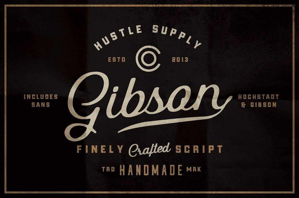 The Bestseller Font Bundle by HSCO Fonts RetroSupply Co.