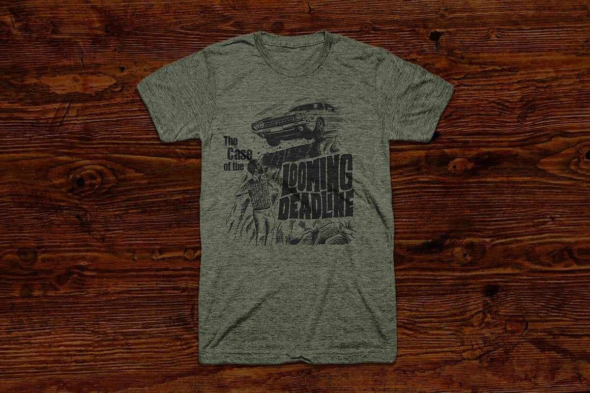 The Case of the Looming Deadline T-shirt RetroSupply Co.