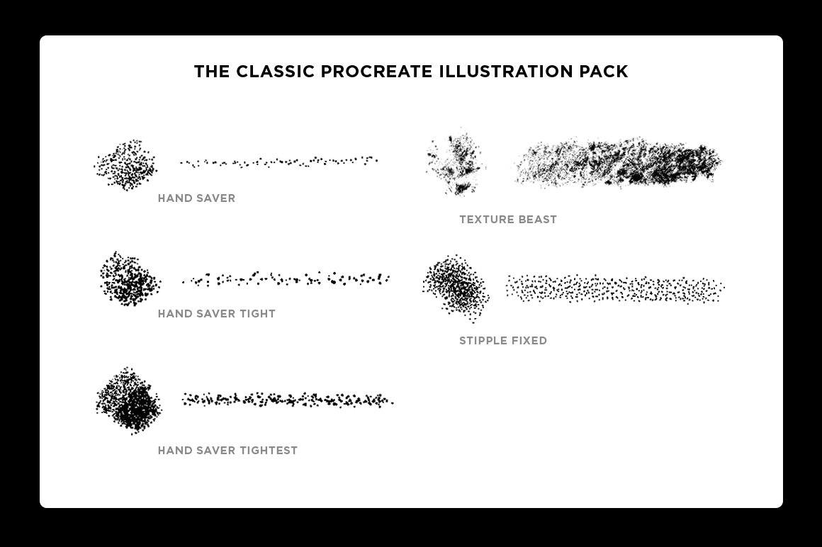 The Classic Procreate Illustration Brush Pack featuring Sam Larson Procreate Brushes RetroSupply Co.
