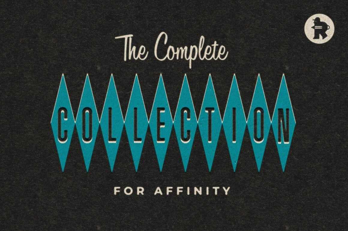 The Complete Collection for Affinity Affinity Designer Brushes RetroSupply Co.