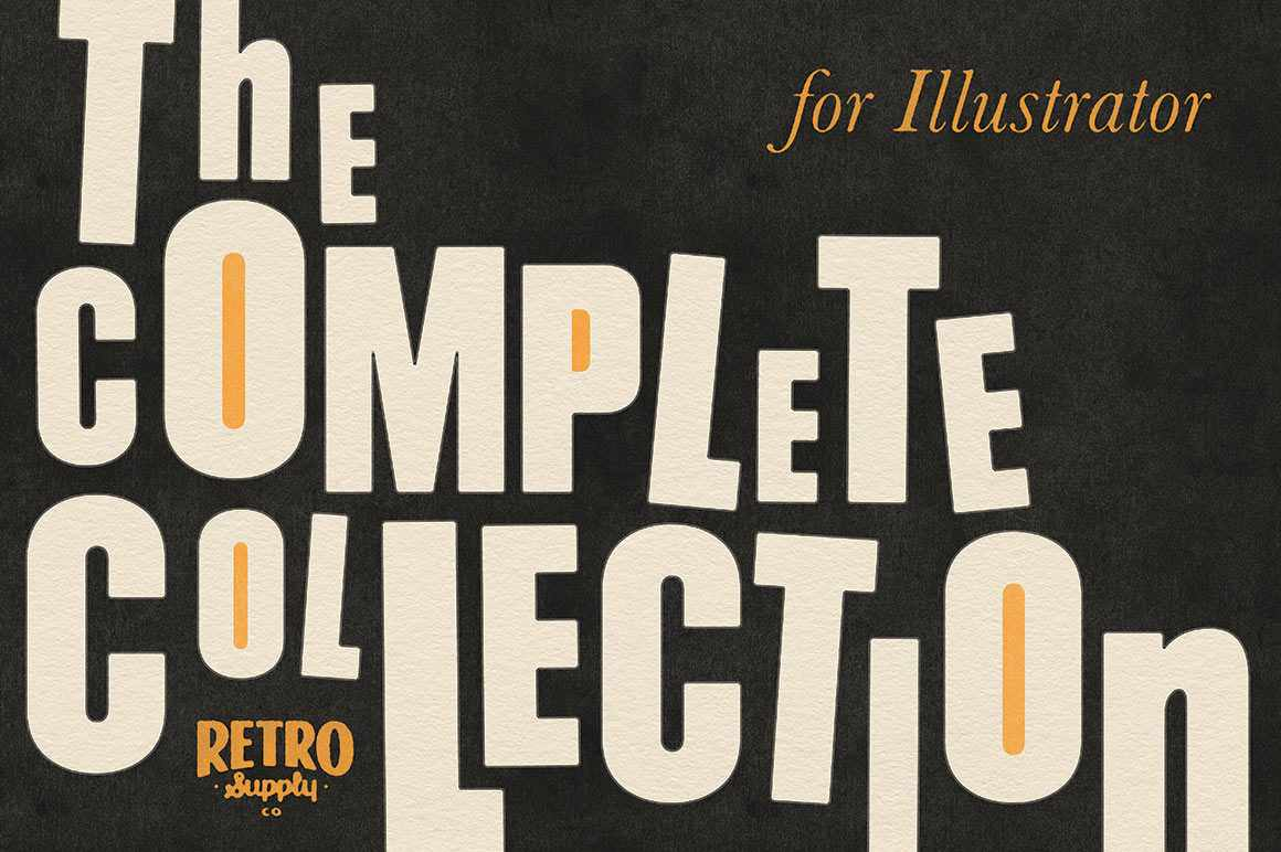 The Complete Collection for Illustrator RetroSupply Co.