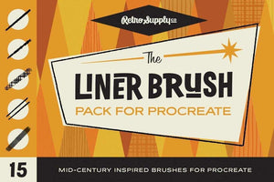 The Liner Brush Pack for Procreate by RetroSupply