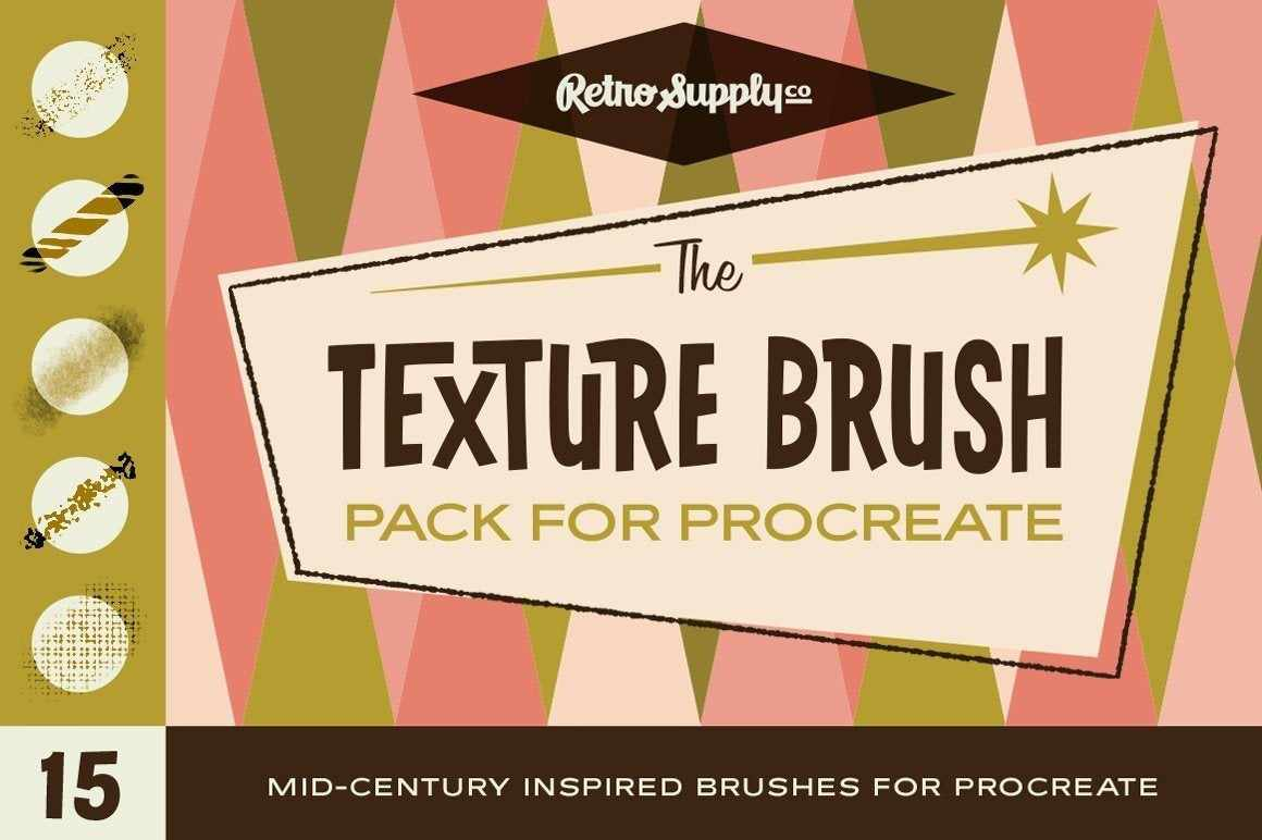 The Texture Brush Pack for Procreate by RetroSupply