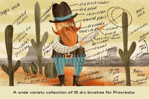 The Dry Brush Pack for Procreate by RetroSupply