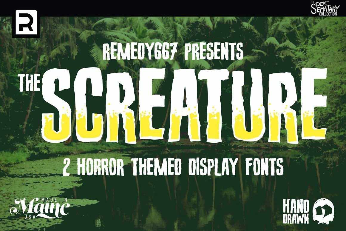 The Creature Feature Font Bundle Fonts RetroSupply Co.