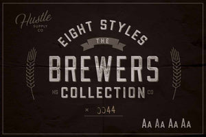 Brewers Collection Font Bundle by Hustle Supply Co.