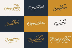 Everyday Script and Sans Font Bundle by Hustle Supply Co.