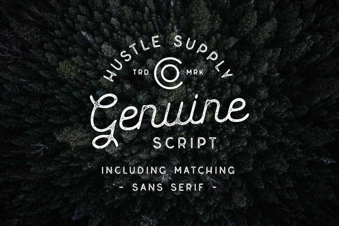 Genuine Vintage Script Font by Hustle Supply Co.