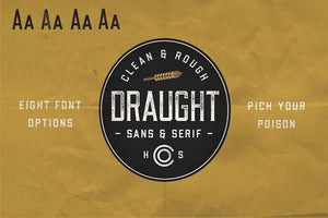 Draught Sans and Sans Serif Font by Hustle Supply Co.
