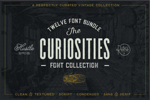 The Curiosities Font Collection Bundle RetroSupply Co