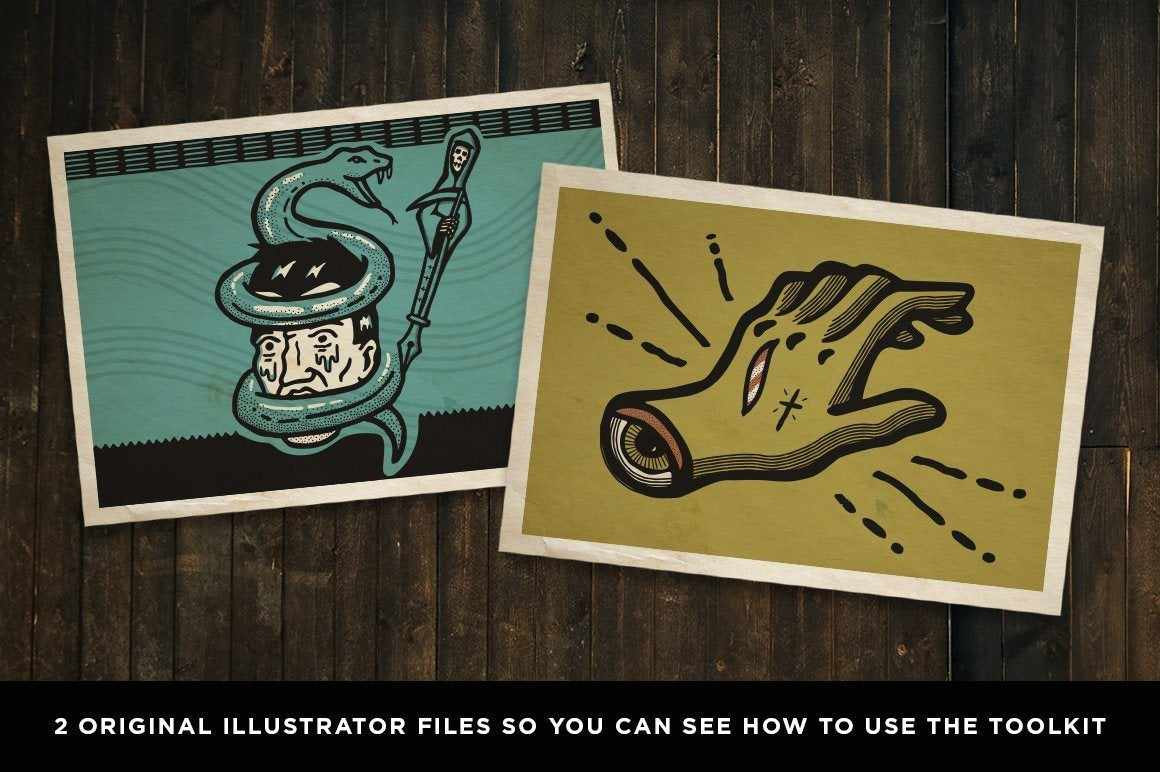The Dead Pen | A Wicked Cool Hand Drawn Tool Kit for Adobe Illustrator Adobe Illustrator RetroSupply Co