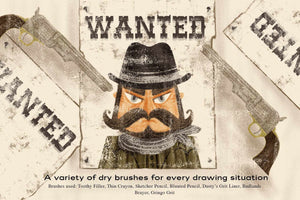 The Dry Brush Pack for Procreate RetroSupply Co.
