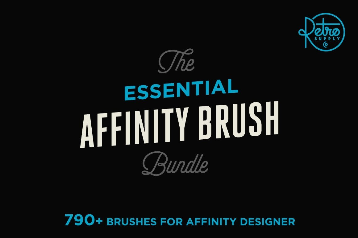 The Essential Affinity Brush Bundle Affinity Designer Brushes RetroSupply Co.