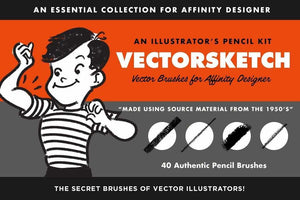 VectorSketch Sketching Brushes for Affinity Designer by RetroSupply