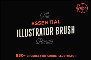 The Essential Illustrator Brush Bundle by RetroSupply