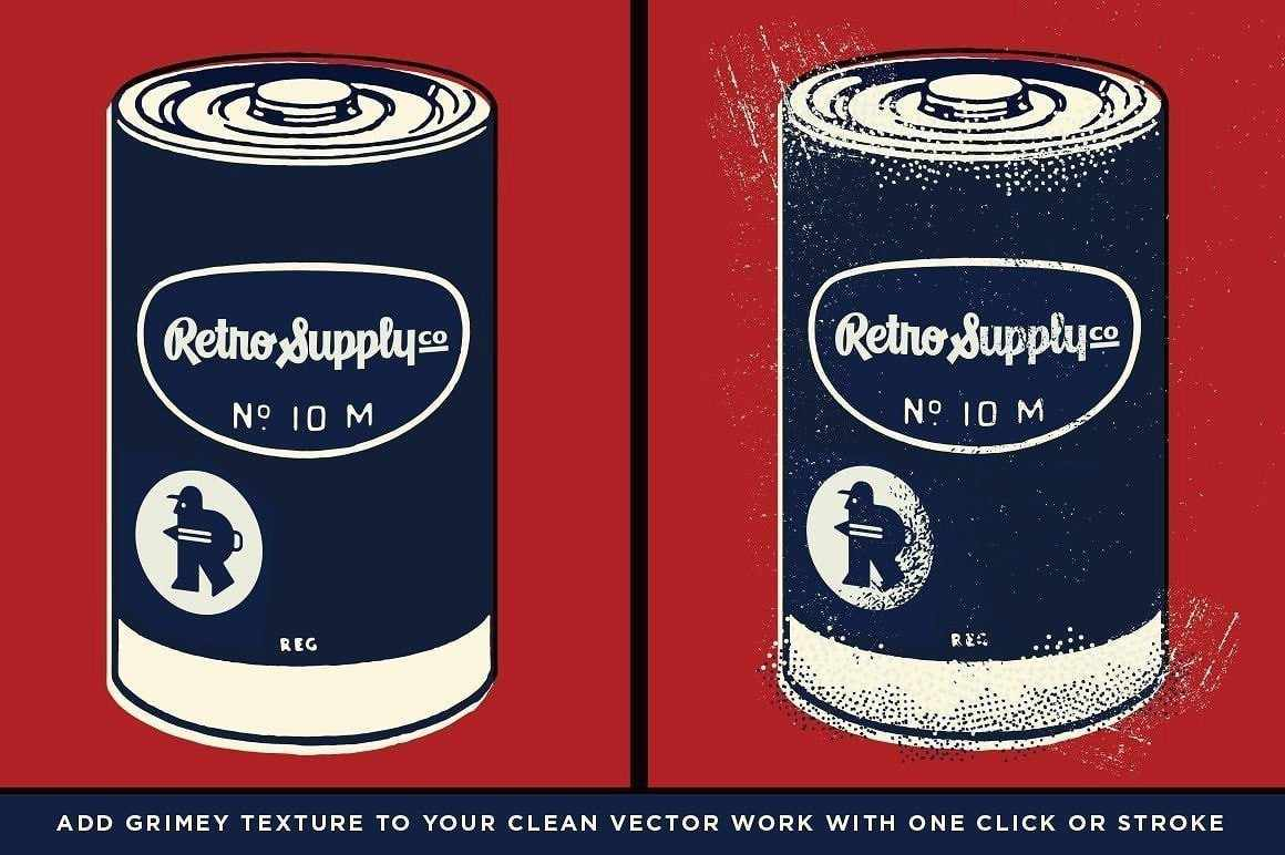 Battery Acid Grease Brushes for Adobe Illustrator by RetroSupply