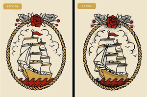 Drunk Sailor Stippling Brushes for Adobe Illustrator