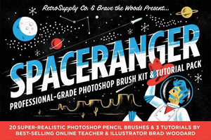 SpaceRanger Professional Grade Photoshop Brushes by RetroSupply and Brave the Woods