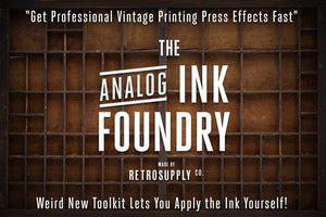 Analog Ink Foundry Ink Roller Brushes for Photoshop by RetroSupply