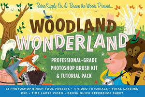 Woodland Wonderland Professional Photoshop Brushes by RetroSupply and Brave the Woods