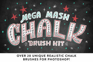 Mega Mash Chalk Brush Kit for Adobe Photoshop by RetroSupply