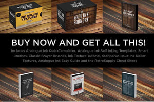 The Ink Fanatic's Toolbox | PSD Bundle Kit Adobe Photoshop RetroSupply Co