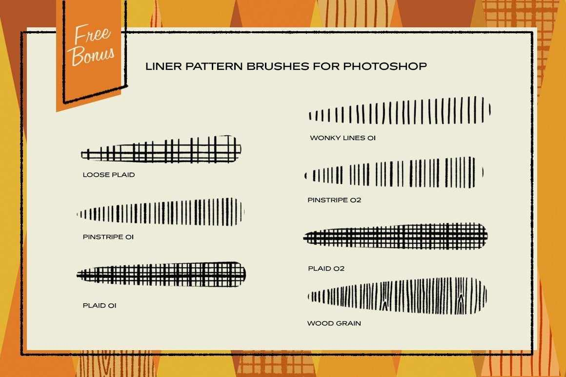 The Liner Brush Pack for Photoshop Photoshop Brushes RetroSupply Co.