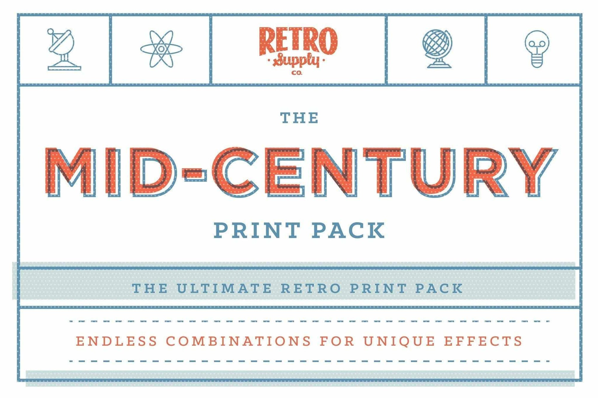 The Mid Century Print Pack Mega Bundle Adobe Photoshop RetroSupply Co