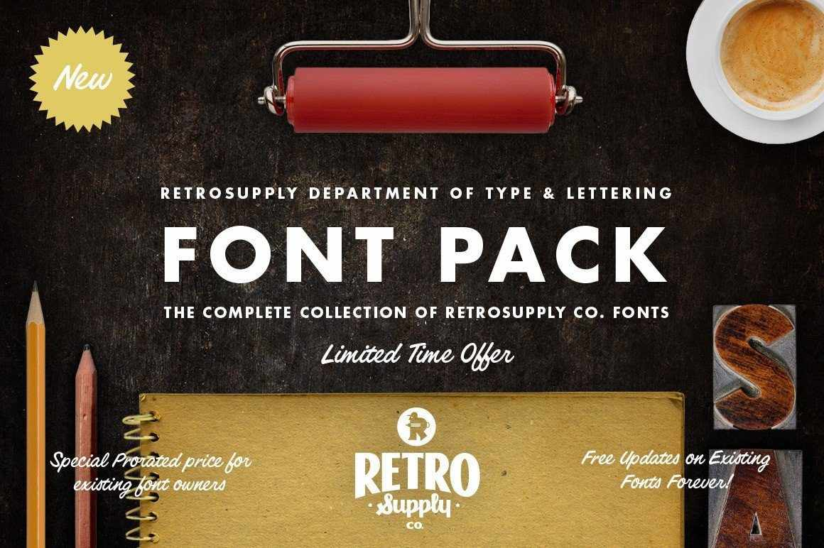 The RetroSupply Complete Font Pack by RetroSupply