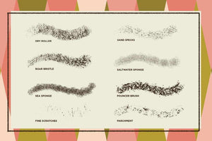 The Texture Brush Pack for Procreate Procreate Brushes RetroSupply Co.