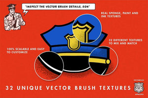 VectorFuzz Sponge Texture Brushes for Adobe Illustrator by RetroSupply by RetroSupply