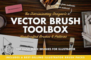 The Vector Brush Toolbox for Adobe Illustrator by RetroSupply